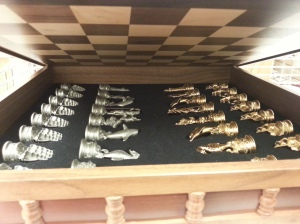 Chess set, courtesy of the WJC Presidential Library